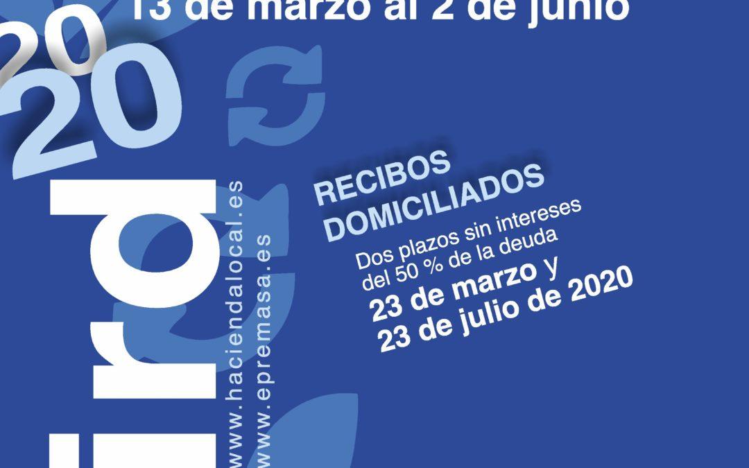 NOTA INFORMATIVA PERIODOS DE COBRO DE LA TARIFA DE GESTIÓN INTEGRAL DE RESIDUOS DOMÉSTICOS 1